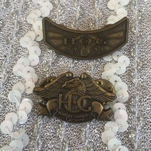 2 Harley Owners Group HOG Bike week lapel pins